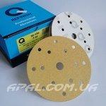 Q-Refinish Абразивный круг P80 Premium Gold Velcro, (150 мм, 15 отверстий)
