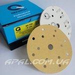 Q-Refinish Абразивный круг P120 Premium Gold Velcro, (150 мм, 15 отверстий)