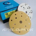 Q-Refinish Абразивный круг P150 Premium Gold Velcro, (150 мм, 15 отверстий)