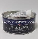 SOLID FULL BLACK Шпатлівка наповнююча средньозерниста поліефірна з проявним шаром, 1000 г
