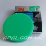 50487 Зеленый многоразовый полировальник 3М на липучке, 150 мм (для полировальной пасты 50417) 1 шт.
