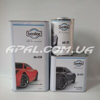 Baslac Комплект: 40-450 Універсальний лак  (5л) + затв. 50-420 (2,5л),розчинник 60-20(1л)